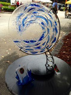 Marble Ocean Whitecaps Fused Glass Wave Sculpture Art door Marusca op Etsy https://www.etsy.com/nl/listing/206369717/marble-ocean-whitecaps-fused-glass-wave