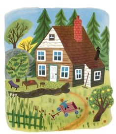 JP Miller 'The Wonderful House' by Margaret Wise Brown (1950), A edition - Little Golden Book