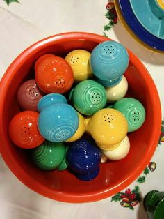 Fiestaware salt & pepper shakers in every color