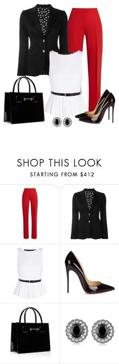 """""""Untitled #1416"""" by gallant81 ❤ liked on Polyvore featuring MaxMara, Dolce&Gabbana, Alice + Olivia, Christian Louboutin and Allurez"""