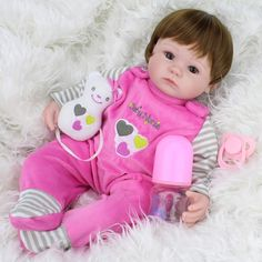 (53.87$)  Watch here - http://aite9.worlditems.win/all/product.php?id=32791844707 - 40cm Silicone Reborn Baby Doll kids Playmate Gift For Girls 16 Inch Baby Alive Soft Toys For Bouquets Doll Bebe Reborn