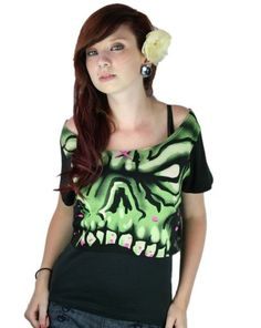 TOO FAST BRAND - CADE CROP TOP - MONSTER FACE