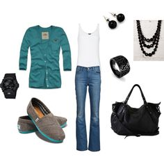 turquoise & black <3, created by bwin829