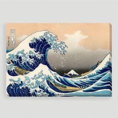 One of my favorite discoveries at WorldMarket.com: 'Great Wave Off Kanagawa' by Katsushika Hokusai