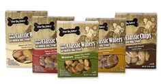 All-natural wafer cookies in vanilla, peanut butter, apple oatmeal and assorted mini.