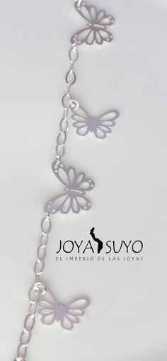 Pulsera dijes mariposas  S/. 60  www.joyasuyo.com