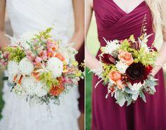 Brautstrauß Ideen Hochzeit Lande bunt frisch