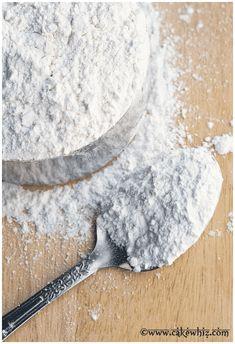 spoonful of homemade cake flour