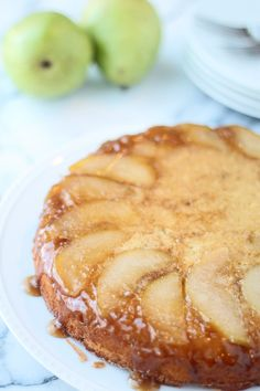 Brown Butter Upside Down Pear Cake - Cooking for Keeps
