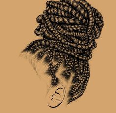 To Make Your Hair Grow Fast Even If It is Damaged Black Culture Is So Doggone Beautiful!)Black Culture Is So Doggone Beautiful! Black Girl Art, Black Women Art, Black Girl Magic, Art Girl, Black Girls, Black Girl Style, African American Art, African Art, Natural Hair Art