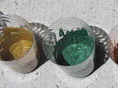 Rainbow mud paint