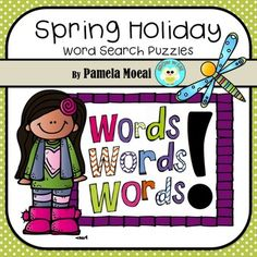 Five fun and challenging word searches for your students to complete: Star Wars Day, Cinco de Mayo, Teacher Are Awesome, I Love Mom, I Love My Dad.  These Spring Holiday puzzles are great for taking a break from end of year testing.  Enjoy!