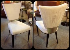 Monroe Dining Chair, Elite Suede: Cream. Available at Scanhome Furnishings in Green Bay.