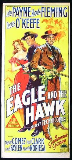 Movie Posters and Lobby Cards   EAGLE AND THE HAWK Movie Poster RHONDA FLEMING Richardson Studio RARE ...