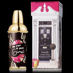 Benefit Perfume: My Place or Yours Gina This smells lovely and sultry ! It is the Eau de Toilette from Benefit ! This one is called My Place or Yours Gina! This one is only slightly used and as good as new ! Feel free to make an offer ! Benefit Makeup
