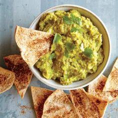 http://www.myrecipes.com/recipe/sweet-pea-avocado-dip-baked-pita-chips | MyRecipes.com