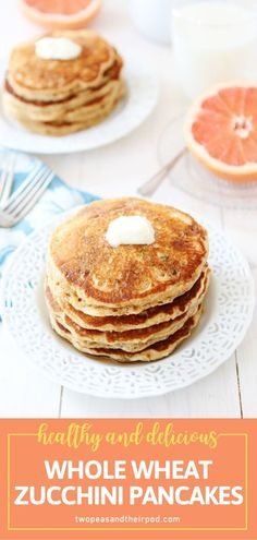 Fall in love with summer squash all over again after trying this menu idea! Your family will love these Whole Wheat Zucchini Pancakes. Make extra for freezing to enjoy a healthy breakfast on many summer occasions! Top a giant stack with peanut butter and maple syrup! Easy Healthy Recipes, Healthy Meals, Great Recipes, Breakfast Pancakes, Breakfast Recipes, Zucchini Pancakes, Summer Squash, Maple Syrup, Peanut Butter