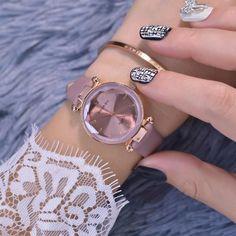 Fashion luxury women leather quartz watch diamond design ladies bracelet watches 2019 new popular brand female clock gifts Big Watches, Stylish Watches, Luxury Watches, Cool Watches, Watches For Men, Wrist Watches, Ladies Bracelet Watch, Hand Watch, Beautiful Watches