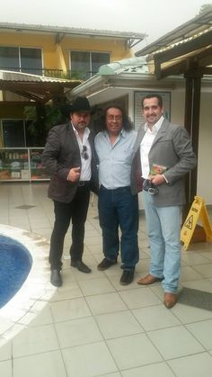 Leo Sabino, Humberto Morales y Servidor, Miguel Alcázar un día antes del CRIPCOTON de CRIPCO (Centro de Rehabilitación Integral de Puerto Cortes)  Puerto Cortes, Honduras
