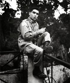 """The impossibly cool: """" Robert Capa, Photographer, 1943. """""""