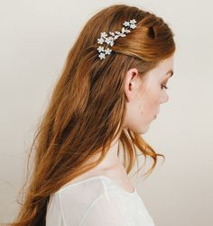 Violet Comb by Jennifer - a gorgeous wedding headpiece or everyday for half up half down or side swept hair