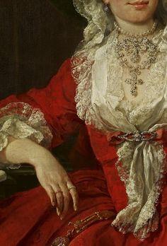 Miss Mary Edwards, William Hogarth, 1742. Detail.