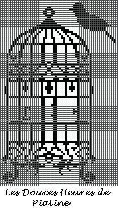 grille cage oiseau baroque  http://les-douces-heures-de-piatine.over-blog.com/tag/Grilles%20gratuites/