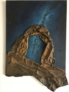 Modpodge acrylic galaxy space art.  the arches. By Lanchen designs