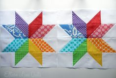 The Starflower Block Tutorial from Ellison Lane Quilts. I just made two of these blocks (the pattern makes 2 blocks at a time) for a bee I'm in and I love this block!