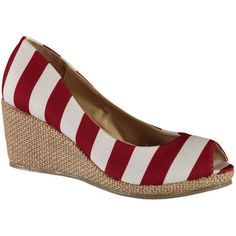 Lillybee U Alabama Crimson Tide Women's Striped Wedge