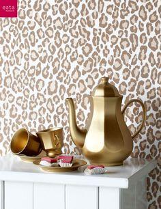 wallpaper panther estahome.nl #behang panterprint