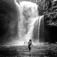 Swim under waterfalls