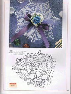 World crochet: Decoration 20 Crochet Buttons, Crochet Motif, Crochet Doilies, Crochet Stitches, Crochet Patterns, Sachet Bags, Photo Pattern, Crochet Wedding, Crochet Tablecloth
