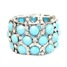 Turquoise Earth Stone Stretch Bracelet OCEAN BLING JEWELRY & ACCESSORIES, INC.. $16.95