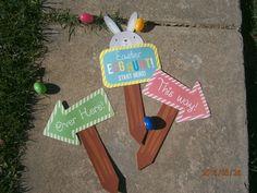 Easter Egg Hunt. Post on Blog.