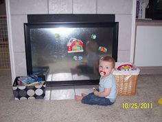 Dirty Feet: Problem Solved! baby proof fireplace