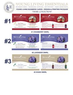1000 Young Living Business Cards  Design & by YLEssentials on Etsy, $50.00