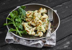 Pieczony kalafior - Dieta dr Dąbrowskiej   dieta warzywna efekty po miesiącu   dieta warzywno owocowa   oczyszczająca dieta