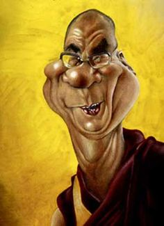 Artist:Jan Op De Beeck   Caricature:Dalai Lama