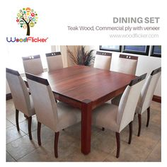 Dining Set  Shop Now : www.woodflicker.com  #woodflicker #diningset #onlinewoodenfurniture #furnitureindelhi
