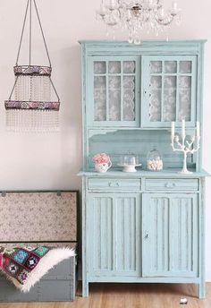 Küchenbuffet, Küchenschrank in Türkis von Bleu et Rosé auf DaWanda.com