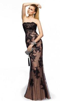 Pronovias black with lace evening dresses 2013 Brown Cocktail Dresses, Black Evening Dresses, Cheap Evening Dresses, Evening Gowns, Bridesmaid Dresses, Prom Dresses, Dress Prom, Dresses 2013, Lace Dresses