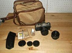 MINOLTA XG-1 35mm SLR FILM CAMERA + ACCESSORIES Minolta 50mm 1:2 Lens #Minolta