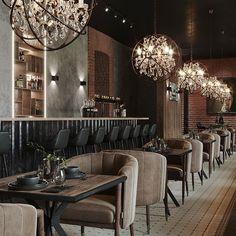 Restoration Hardware Lighting, Bedroom Furniture Design, Chandelier, Restaurant, Ceiling Lights, Interior, Table, Home Decor, Space