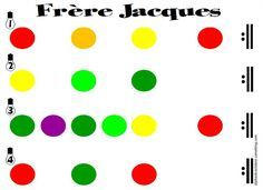 Frère Jacques (pour Boomwhackers) - LaCatalane Kindergarten Music, Preschool Music, Teaching Music, Lets Play Music, Music For Kids, Color Songs, Music Week, Music Worksheets, Fun Songs