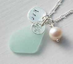 sea glass & pearl