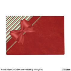 Rich Red and Candy Cane Stripes Placemat