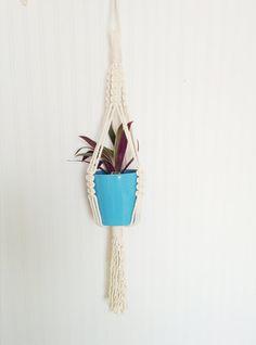 modern macrame plant hanger-hanging planter-macrame by freefille