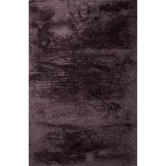 Jaipur Rugs Shag Solid Pattern Purple Polyester Area Rug ANG03 (Rectangle)