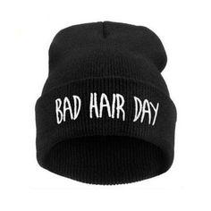 97681a6b04b 2016 Fashion New Unisex Women Mens Winter Bad Hair Day Snap Back Beanies Hat  Knit Hip Hop Sport Warm Ski Cap touca feminina